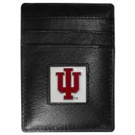 Indiana Hoosiers Leather Money Clip/Cardholder in Gift Box