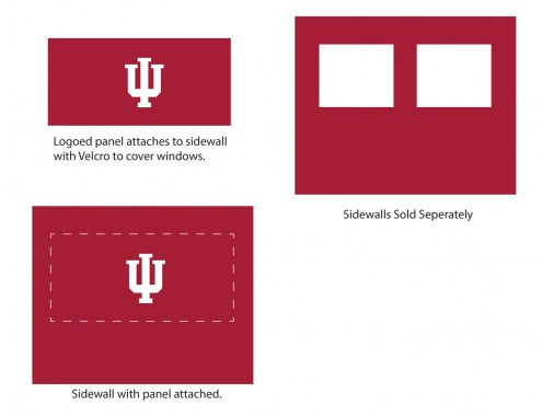 Indiana Hoosiers Logo Canopy Sidewall Panel (Attaches to Window Sidewall)