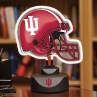 Indiana Hoosiers Neon Helmet Desk Lamp