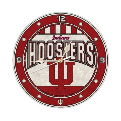 Indiana Hoosiers NCAA Stained Glass Wall Clock