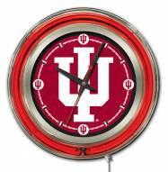 Indiana Hoosiers Neon Clock