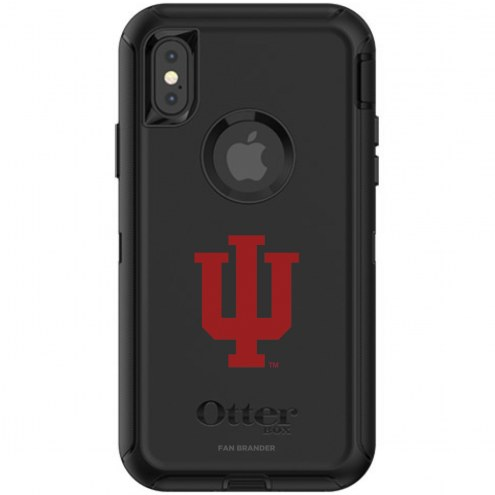Indiana Hoosiers OtterBox iPhone X/Xs Defender Black Case