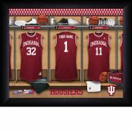 Indiana Hoosiers Personalized Basketball Locker Room 11 x 14 Framed Photograph