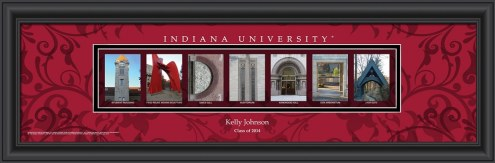 Indiana Hoosiers Personalized Campus Letter Art