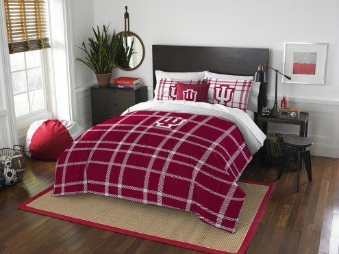 Indiana Hoosiers Plaid Full Comforter Set