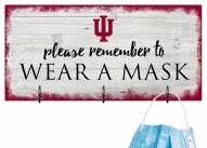 Indiana Hoosiers Please Wear Your Mask Sign