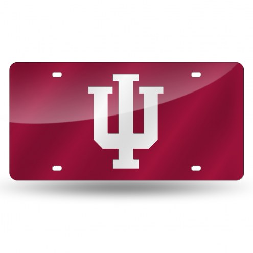 Indiana Hoosiers Red Laser Cut License Plate