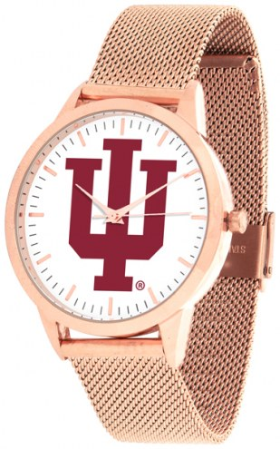 Indiana Hoosiers Rose Mesh Statement Watch