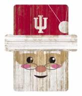 Indiana Hoosiers Santa Ornament