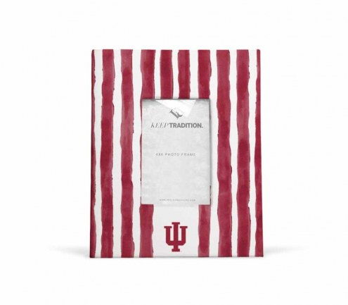 Indiana Hoosiers School Stripes Picture Frame