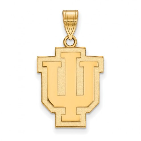 Indiana Hoosiers Sterling Silver Gold Plated Large Pendant