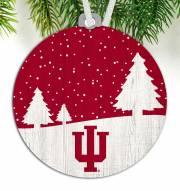 Indiana Hoosiers Snow Scene Ornament