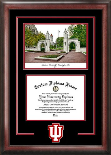 Indiana Hoosiers Spirit Diploma Frame with Campus Image