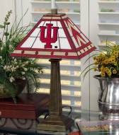 Indiana Hoosiers Stained Glass Mission Table Lamp