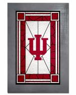 Indiana Hoosiers Stained Glass with Frame