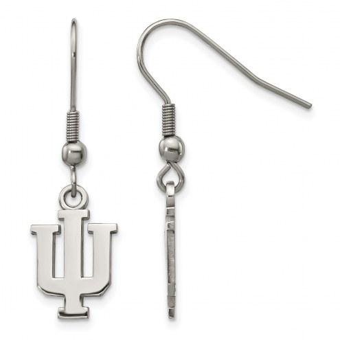 Indiana Hoosiers Stainless Steel Dangle Earrings