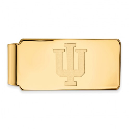 Indiana Hoosiers Sterling Silver Gold Plated Money Clip