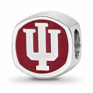 Indiana Hoosiers Sterling Silver Logo Bead