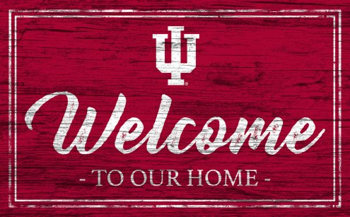 Indiana Hoosiers Team Color Welcome Sign