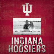 """Indiana Hoosiers Team Name 10"""" x 10"""" Picture Frame"""