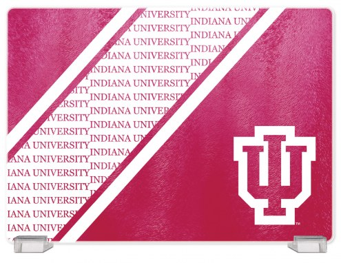 Indiana Hoosiers Tempered Glass Cutting Board