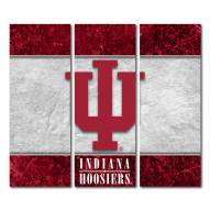 Indiana Hoosiers Triptych Double Border Canvas Wall Art