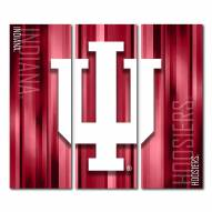 Indiana Hoosiers Triptych Rush Canvas Wall Art