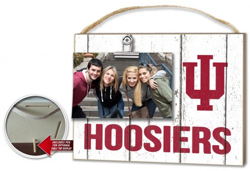 Indiana Hoosiers Weathered Logo Photo Frame
