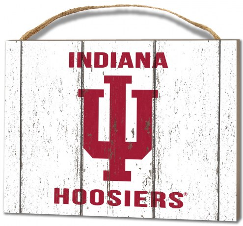 Indiana Hoosiers Weathered Logo Small Plaque