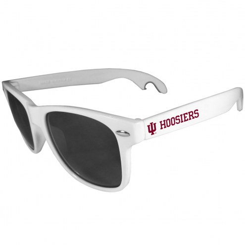 Indiana Hoosiers White Beachfarer Bottle Opener Sunglasses