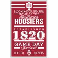 Indiana Hoosiers Established Wood Sign