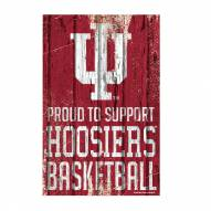 Indiana Hoosiers Proud to Support Wood Sign