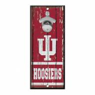 Indiana Hoosiers Wood Bottle Opener