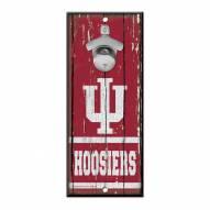 Indiana Hoosiers Wood Bottle Opener