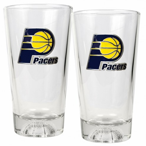 Indiana Pacers Basketball Sculpted Bottom Pint Glass Set