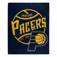 Indiana Pacers Blacktop Raschel Throw Blanket