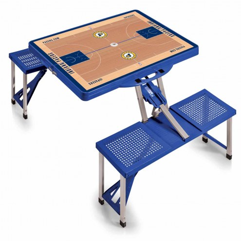 Indiana Pacers Blue Folding Picnic Table