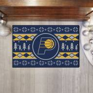 Indiana Pacers Christmas Sweater Starter Rug