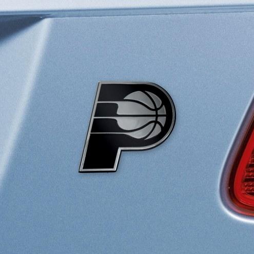 Indiana Pacers Chrome Metal Car Emblem