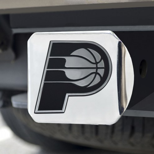 Indiana Pacers Chrome Metal Hitch Cover