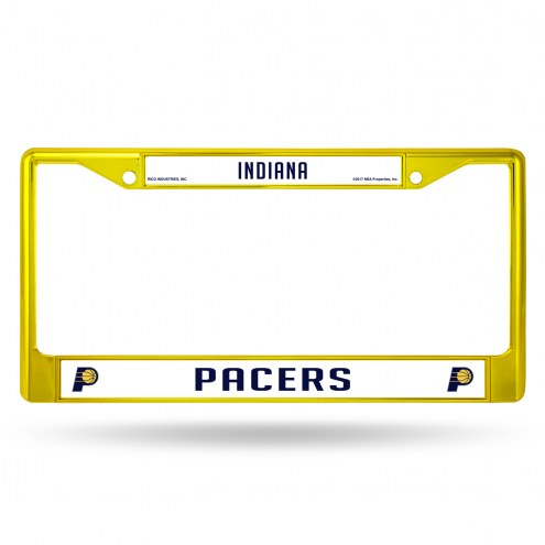 Indiana Pacers Colored Chrome License Plate Frame