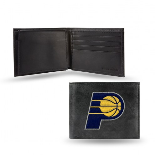 Indiana Pacers Embroidered Leather Billfold Wallet