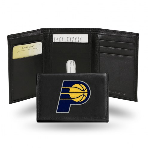 Indiana Pacers Embroidered Leather Tri-Fold Wallet