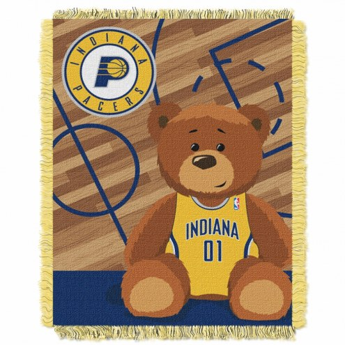 Indiana Pacers Half Court Baby Blanket