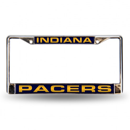 Indiana Pacers Laser Chrome License Plate Frame