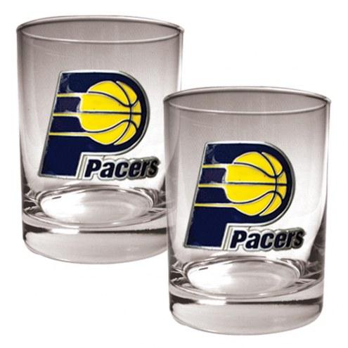 Indiana Pacers NBA 2-Piece 14 Oz. Rocks Glass Set