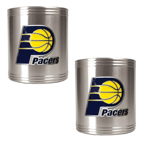 Indiana Pacers NBA Stainless Steel Can Holder 2-Piece Set