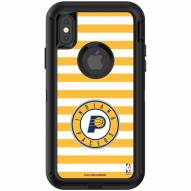 Indiana Pacers OtterBox iPhone X/Xs Defender Stripes Case