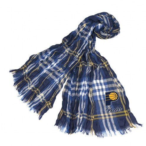 Indiana Pacers Plaid Crinkle Scarf