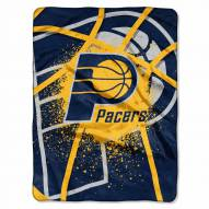 Indiana Pacers Shadow Raschel Throw Blanket